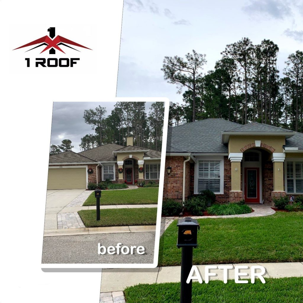 GAF Timberline Shingle Reroof by 1 Roof LLC - Jacksonville Fl
